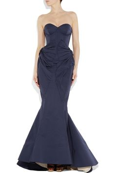 ZAC POSEN Bustier fishtail gown. #wedding dress, I saw this product on TV and have already lost 24 pounds! http://weightpage222.com