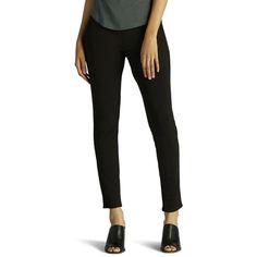 Women's Lee Jade Jean Leggings ($37) ❤ liked on Polyvore featuring pants, leggings, black, denim leggings, jean leggings, stretch denim leggings, form fitting leggings and stretch leggings