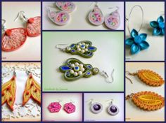 Quilled earrings - the middle ones are superb, I love the way they are 3d :D