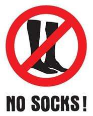 May 8th is No Socks Day!