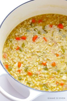 Chicken and Stars Soup -- quick, easy, all-natural, and SO good   gimmesomeoven.com