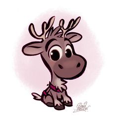 Baby Sven from Disney's Frozen by princekido.deviantart.com on @DeviantArt