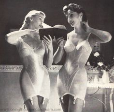 .A satirical look at the history of women's undergarments from corsets to girdles, including a collection of vintage lingerie advertising #Girdles #vintage