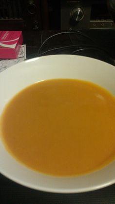 Sweet potato soup for lunch! #vegan