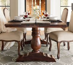 Bowry Reclaimed Wood Fixed Dining Table | Pottery Barn