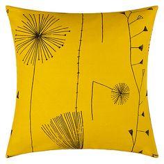 Buy Lucienne Day Dandelion Clocks Cushion, Mustard Online at johnlewis.com