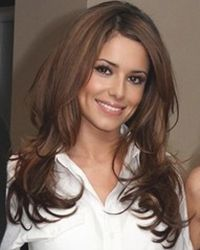 cheryl cole long straight layered hairstyle