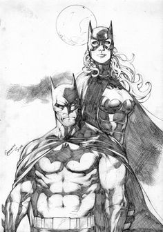 Batman and Batgirl by Gardenio Lima by Ed-Benes-Studio
