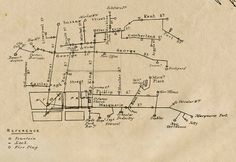 Sketch map of the waterpipes laid in Sydney at June 1844 Kent St, Australian Animals, Historical Images, Vintage Maps, Experiential, Old Photos, Sydney, June, Sketch
