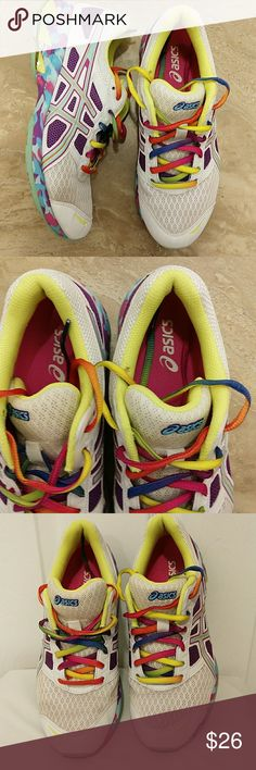 Asics GEL multicolor sloes Great condition, color white, purple, blue,pink Asics Shoes Sneakers