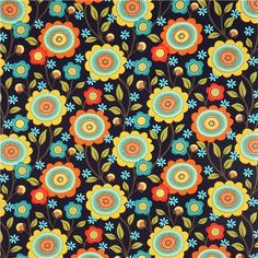 """'Stitch Floral' by Michael Miller Collection """"Stitch Floral"""""""