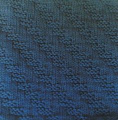 Every Saturday I will share with you a new stitch.  Today's stitch is: Stepping Garter Stitch.      This pattern stitch is reversible; an...