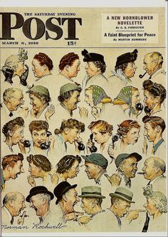 I remember the great illustrations on the Saturday Evening Post...this one in particualr! ..... Norman Rockwell