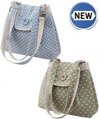 Vintage Linen Polka Dot Bag