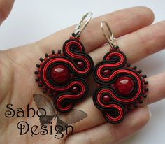 KISS FROM A ROSE 02 - soutache earrings by SamanthaBossy on DeviantArt