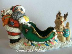 Amigos de Recortes: Navidad en Agosto Amigos de Recortes!!!! Polymer Clay Christmas, Xmas, Christmas Ornaments, Bowser, Santa, Ceramics, Sculpture, Holiday Decor, Tutorials