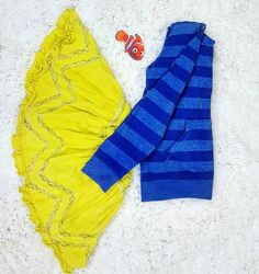 Thrift Store Cosplay Day 3: Dory from Disney Pixar's Finding Dory and Finding Nemo flat lay