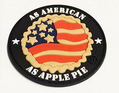 "3d 3.5"" PVC As American As Apple Pie Velcro Morale Patch Britkit http://www.amazon.com/dp/B00OMM7HYY/ref=cm_sw_r_pi_dp_qtwvub01VPW2J"