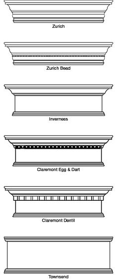 cornice- decrative strip at the area where the roof and wall meet Cornice Box, Wood Cornice, Window Cornices, Cornice Boards, Window Coverings, Window Treatments, Valances, Cornice Ideas, Door Molding