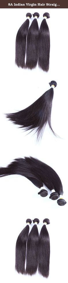 """8A Indian Virgin Hair Straight Wave 3 Bundles/lot 100g Straight Virgin Hairpiece 8A Grade Virgin Unprocessed Human Hair Extensions (10""""10""""10""""). Hair Material :100% Unprocessed human hair, Grade 8A Good quality Indian virgin Human hair Hair Weight & Length: 95-100g/bundle, 10inch~30inch. For the LENGTH, stretching the hair to be STRAIGHT and then measure Hair Advantage :No shedding, No tangles, lasting silky look, curl and feel soft. Natural hair line. Human hair Color: Natural color, can…"""