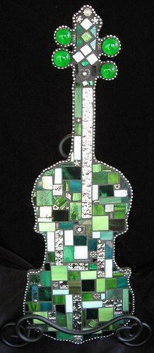 Violin / Fiddle Mosaic, via Flickr.