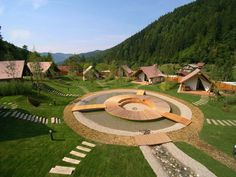 Experience luxury escapes in glamping Charming Slovenia and unforgettable moments in unique tree houses, tents and cottages in pristine nature. Earth Bag Homes, Tiny House Village, Tent Living, Cabin House Plans, Tiny House Community, Luxury Tents, Outdoor Restaurant, Cabana, Farm Stay