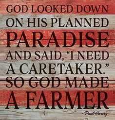 So God Made a Farmer Red and White Design 12 x 12 Wood Lath Wall Art Sign Plaque >>> Find out more about the great product at the image link. (This is an affiliate link) Pallet Designs, Art Sign, Wood Lathe, Wall Art Designs, Wall Sculptures, Wood Pallets, How To Plan, How To Make, Farmer