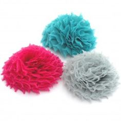 "2.25"" Chiffon Poof Hair Flower"