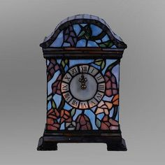 Lovely Tiffany Style Stained Gl Clock