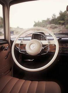 vintage mercedes interior
