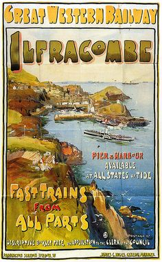 Ilfracombe - Vintage Travel Poster - Great Western Railway