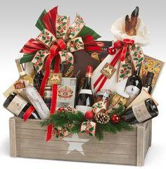 Christmas Gift Baskets, Christmas Gift Box, Christmas Mood, Holiday Gift Baskets, Holiday Gifts, Christmas Crafts For Adults, Christmas Decorations, Dollar Tree Christmas, Edible Gifts