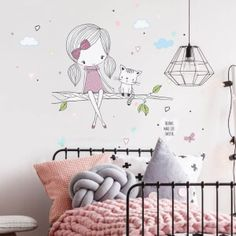 Nálepky na stenu - hviezdičky a oblaky | INSPIO Cute Drawings, Kids Rugs, Metr, Home Decor, Infant Room, Paintings, Wall Decals, Child Room, Gifts For Girls