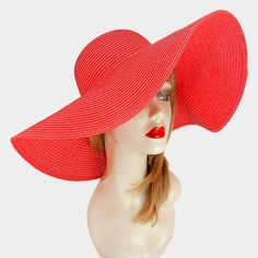 FASHIONISTA  Red  Beach Sun Cruise Summer Large Floppy Hat. Get the lowest price on FASHIONISTA  Red  Beach Sun Cruise Summer Large Floppy Hat and other fabulous designer clothing and accessories! Shop Tradesy now