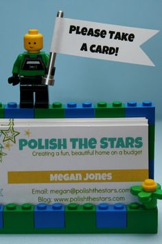 This is adorable!  Polish The Stars: LEGO Business Card Holder