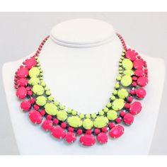 Adia Kibur Super Bright Acrylic Stone Necklace
