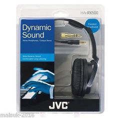 JVC HARX500 New High Quality Full Size Comfortable Padded Headphones in Sound…
