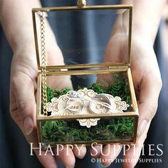 Wedding Glass Box Glass Ring Box Custom Name Glass Jewelry Ring Holder Wedding, Ring Pillow Wedding, Wedding Rings, Wedding Boxes, Wedding Cards, Wedding Invitations, Ring Bearer Pillows, Ring Bearer Box, Cute Engagement Rings