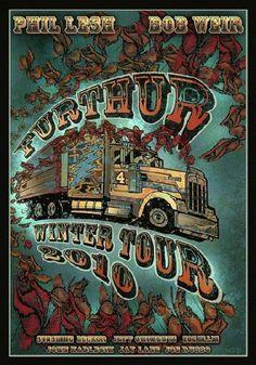 Furthur / Grateful Dead Winter Tour 2010  Posters > Music Posters Designer: Mike DuBois Dimensions: 16 x 23 Condition: MINT Date: 201...