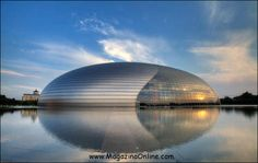 15 Bizarre and Incredible Building Design China National Grand Theater in Beijing Unique Buildings, Interesting Buildings, Amazing Buildings, Beautiful Architecture, Interior Architecture, Historic Architecture, Places Around The World, Around The Worlds, China Travel