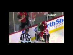 Hockey fights - NHL-  Antoine Roussel vs Brandon Bollig 25 -3 -14 Of Montreal, Chicago Blackhawks, Nhl, Hockey, Baseball Cards, Field Hockey