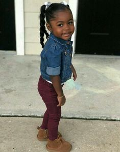 Missteidrabby2 Black Kids Fashion, Cute Kids Fashion, Toddler Fashion, Trendy Fashion, Fashion Outfits, Future Daughter, Daughters, Future Baby, Black Little Girls