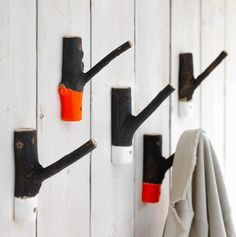 DIY Inspiration - Painted Twig Hooks
