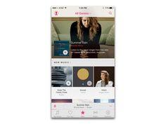 Apple Music App by Aris Gonzales Mobile App Design, Mobile Ui, Music App, New Music, Angel Olsen, Ios Ui, Summer Rain, Interface Design, Apple Music