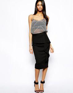 ASOS pencil skirt with ruffle.