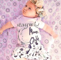 Stay Wild Moon Child/ Gypsy/ Space/ Baby by Athomewithaverygrace