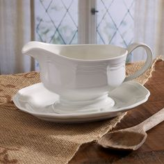 Mikasa French Countryside Gravy Boat & Saucer