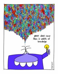 Great ideas come from a Wealth of knowledge