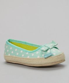 This Carter's Light Green Acasia Espadrille Flat by Carter's is perfect! #zulilyfinds