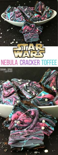 This delicious salty-sweet treat is perfect for a Star Wars party or family movie night, a fun take on the galaxy desserts sweeping the internet